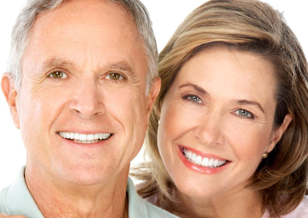 Older couple smiling | Dentist Edmonton AB