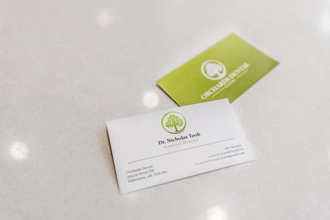 Business Cards for Nicholas Teoh | Orchards Dental