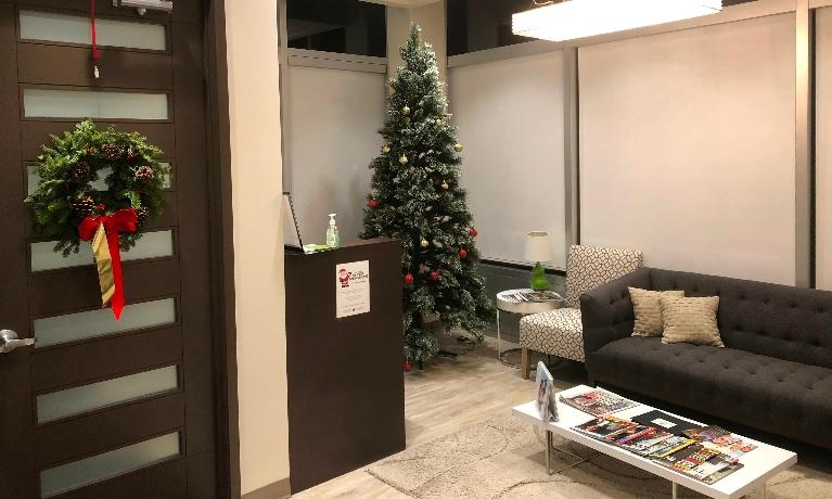 Dental Office with Christmas Decorations | Dentist Edmonton AB