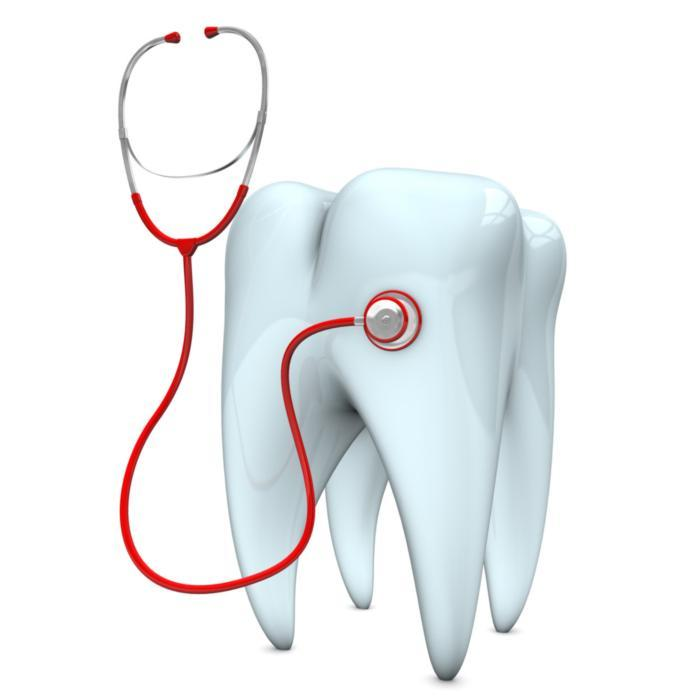 Illustration of tooth with a stethoscope | Dentist Edmonton AB