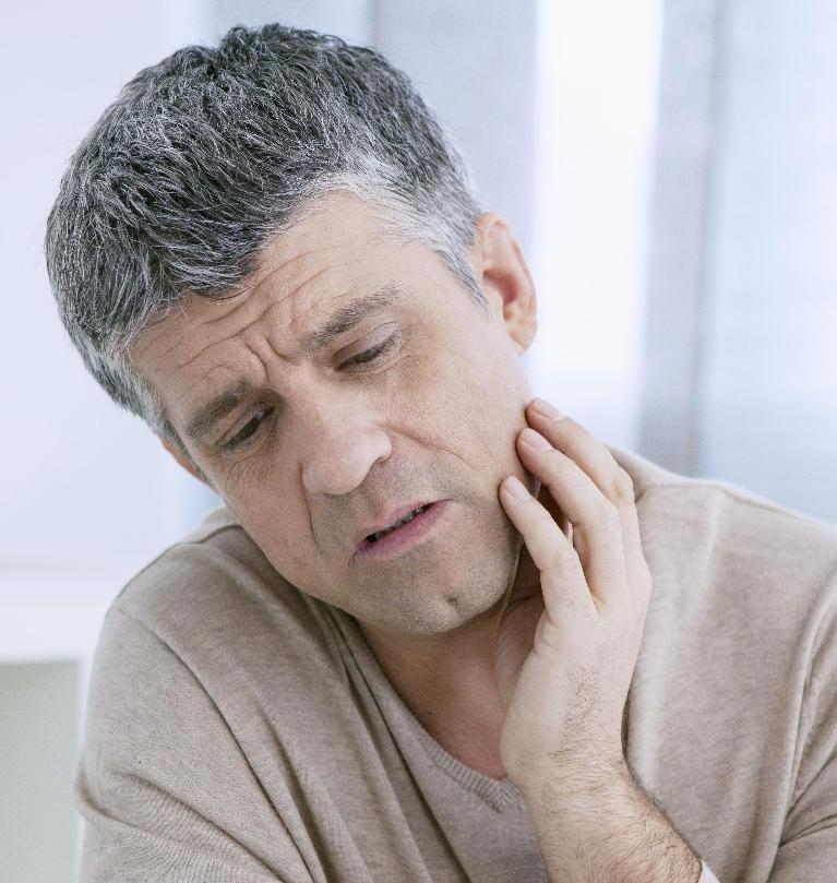 Man with Jaw Pain | Edmonton AB Dentist